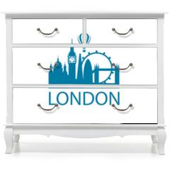 Naklejka na meble - illustration of london landmark isolated on white background