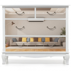 Naklejka na meble - Modern living room with sofa and air conditioner