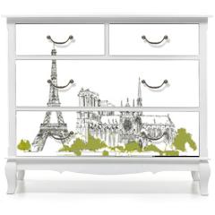 Naklejka na meble - The Eiffel Tower vector