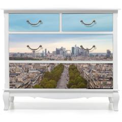 Naklejka na meble - Paris- Vue aérienne