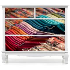 Naklejka na meble - Different colors silk fabric