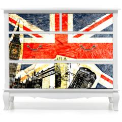 Naklejka na meble - drapeau anglais