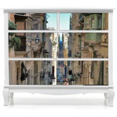 Naklejka na meble - long view of maltese street