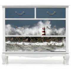 Naklejka na meble - Stormy waves