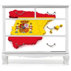 Naklejka na meble - 3D Map of Spain