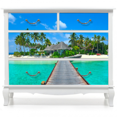Naklejka na meble - Maldives island Panorama