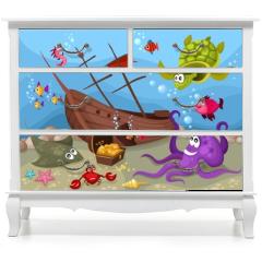 Naklejka na meble - sea life