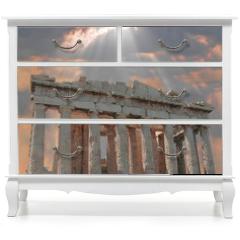 Naklejka na meble - sunburst over the acropolis temple
