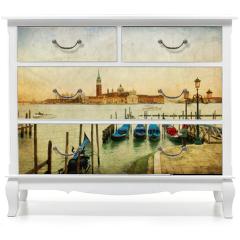 Naklejka na meble - Venezia - Isola di San Giorgio su texture retro