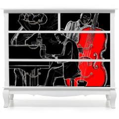 Naklejka na meble - Jazz band