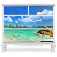 Naklejka na meble - Seychelles , beach panorama