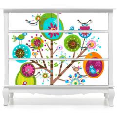 Naklejka na meble - whimsy tree