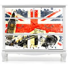 Naklejka na meble - drapeau anglais decoupe