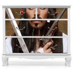 Naklejka na meble - Dissatisfied pirate