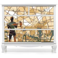 Naklejka na meble - Mosaic gym