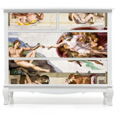 Naklejka na meble - Creation of Adam by Michelangelo, Sistine Chapel, Rome