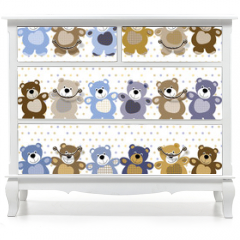 Naklejka na meble - vector seamless pattern of a toy teddy bear
