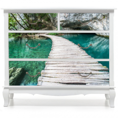 Naklejka na meble - Ponte di Plitvice
