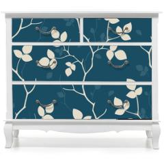 Naklejka na meble - Wallpaper with leaves. Seamless pattern