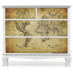 Naklejka na meble - vintage map of the world 1814..