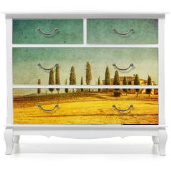 Naklejka na meble - vintage tuscan landscape