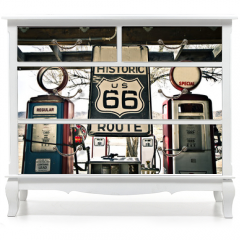 Naklejka na meble - Hisotric Route 66
