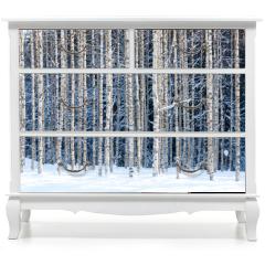 Naklejka na meble - Snowy birches