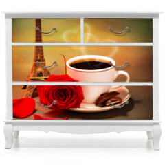 Naklejka na meble - Romantic trip to France