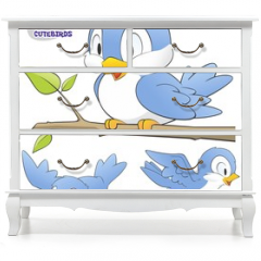 Naklejka na meble - A Set of Cute Cartoon Birds