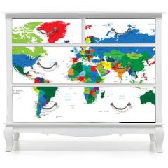 Naklejka na meble - World map-countries