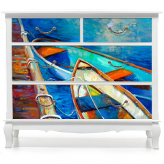 Naklejka na meble - Boats and pier