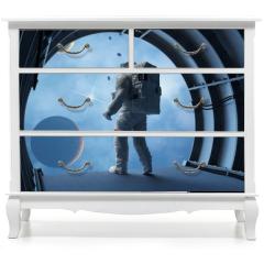 Naklejka na meble - Astronaut in the tunnels