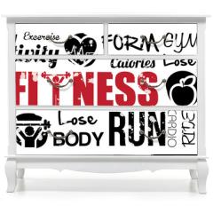Naklejka na meble - fitness
