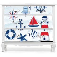 Naklejka na meble - Nautical design elements