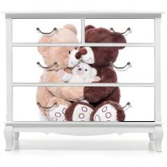 Naklejka na meble - Teddybären - Familie mit Mutter, Vater und Kind