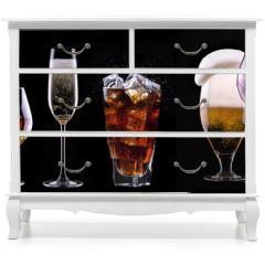 Naklejka na meble - alcohol drinks set isolated on a black