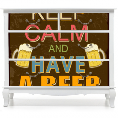 Naklejka na meble - Keep calm and have a beer poster