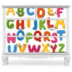 Naklejka na meble - Colorful alphabet letters