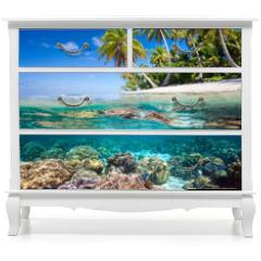 Naklejka na meble - Tropical island