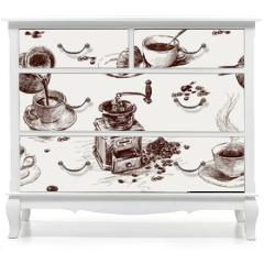 Naklejka na meble - pattern of coffee
