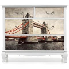 Naklejka na meble - Tower Bridge in London, England, the UK. Vintage style