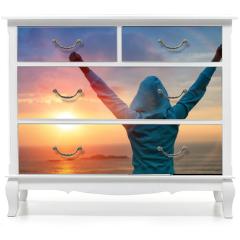 Naklejka na meble - Sport success on sunset background