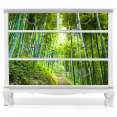 Naklejka na meble - Bamboo forest and walkway