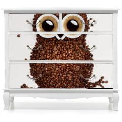 Naklejka na meble - Coffee owl.