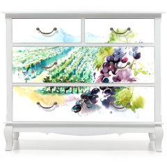 Naklejka na meble - vineyards