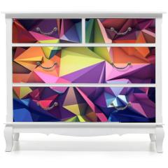 Naklejka na meble - Abstract geometric background