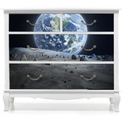 Naklejka na meble - Earth seen from the moon.