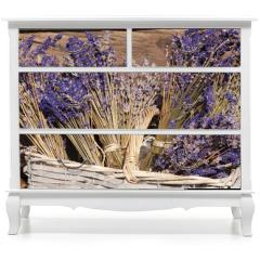 Naklejka na meble - Sommerernte - Lavendel getrocknet im Korb