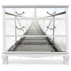 Naklejka na meble - Rope Bridge Above The Clouds