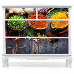 Naklejka na meble - Spices and herbs